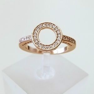 18k Plated Pave Circle Ring